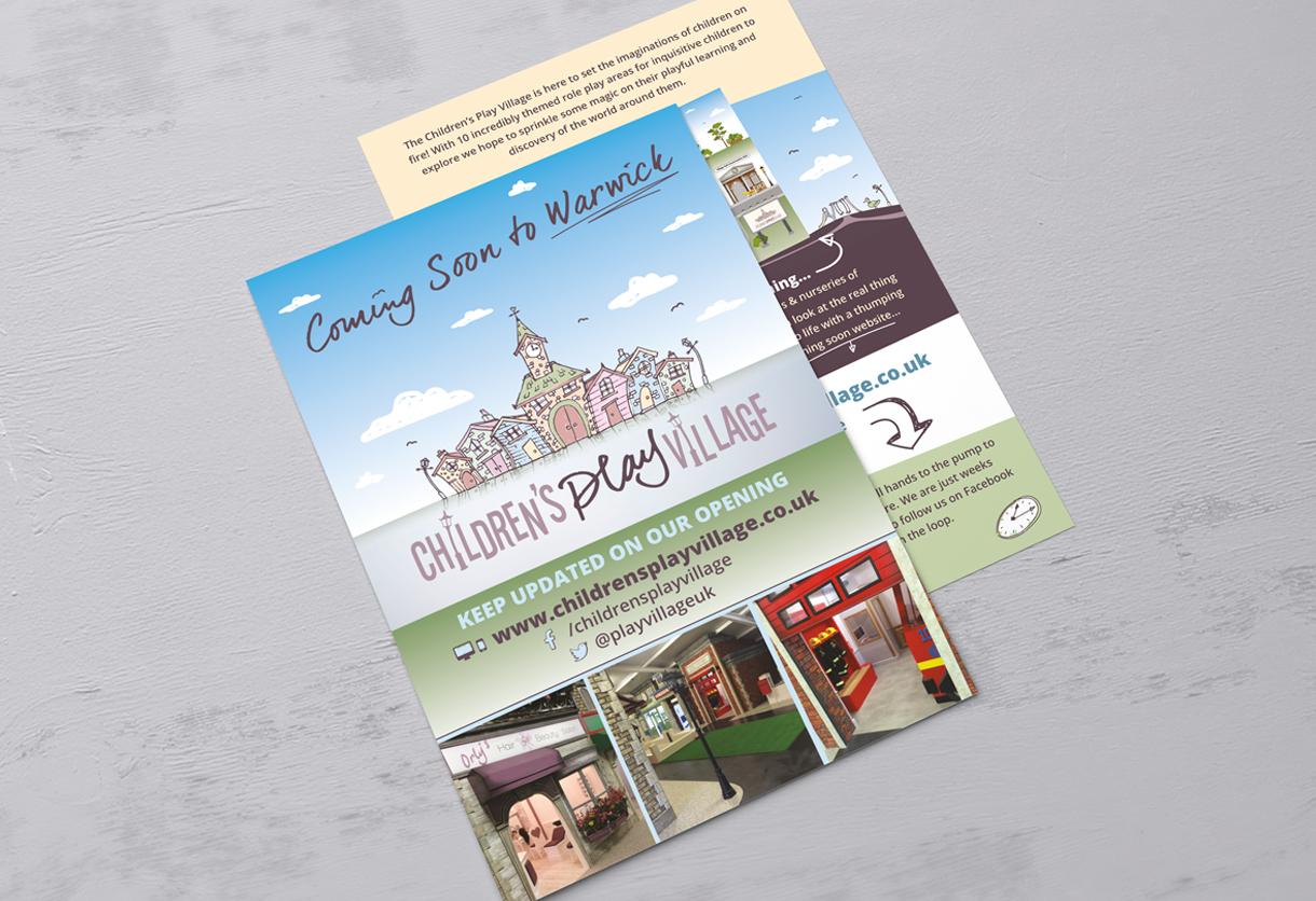 The Childrens Play Village Flyer Design & Print