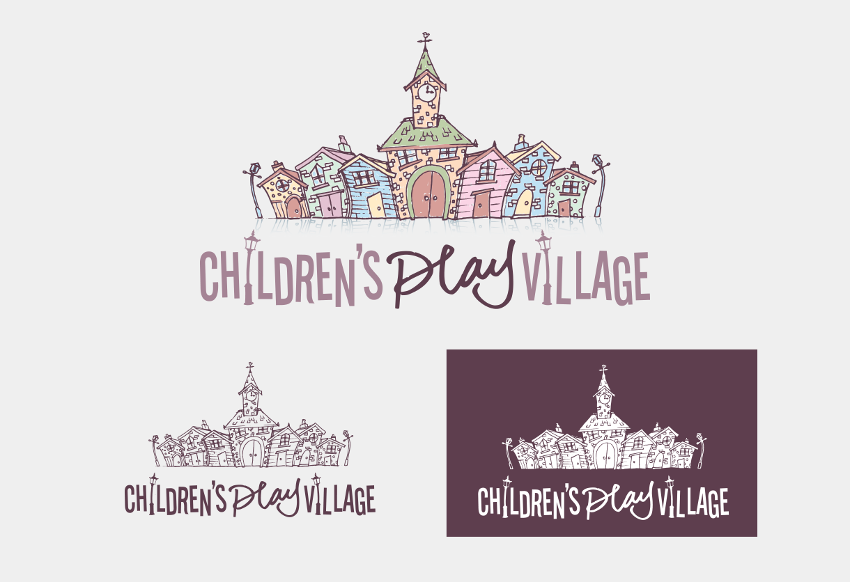 The Children's Play Village Logo designed by Adventure Graphics
