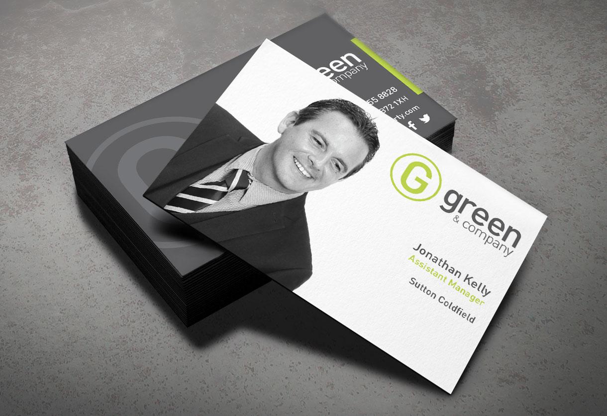 Green & Co Business Card design