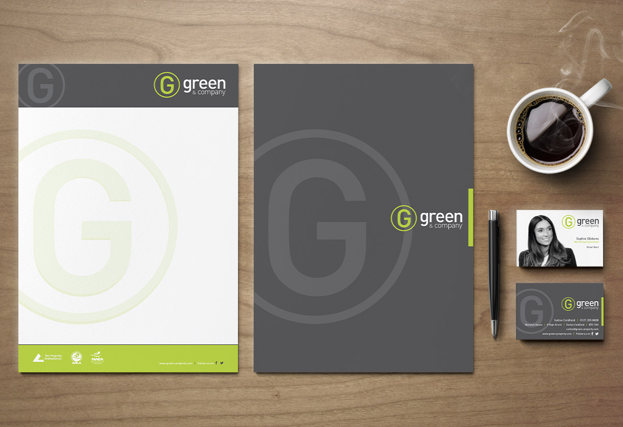 Green & Co Stationery Design