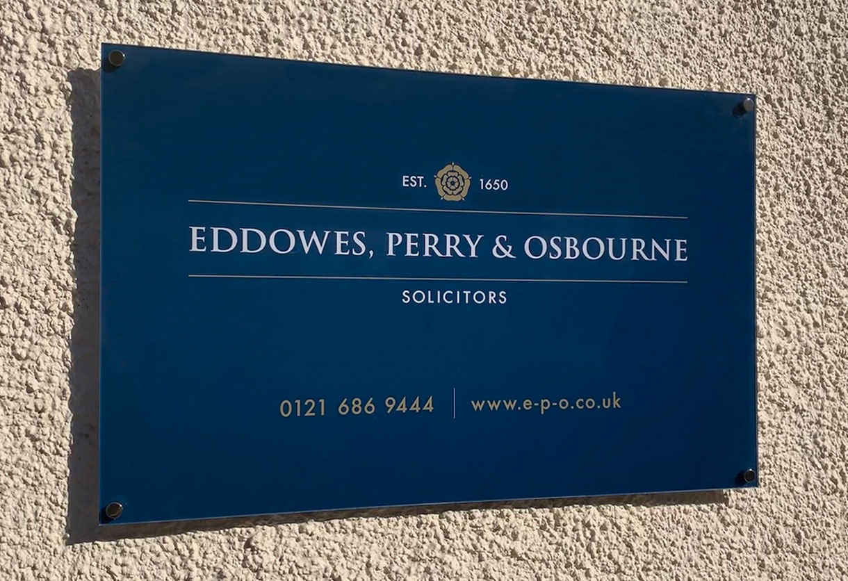 Eddowes, Perry & Osbourne Wall Sign