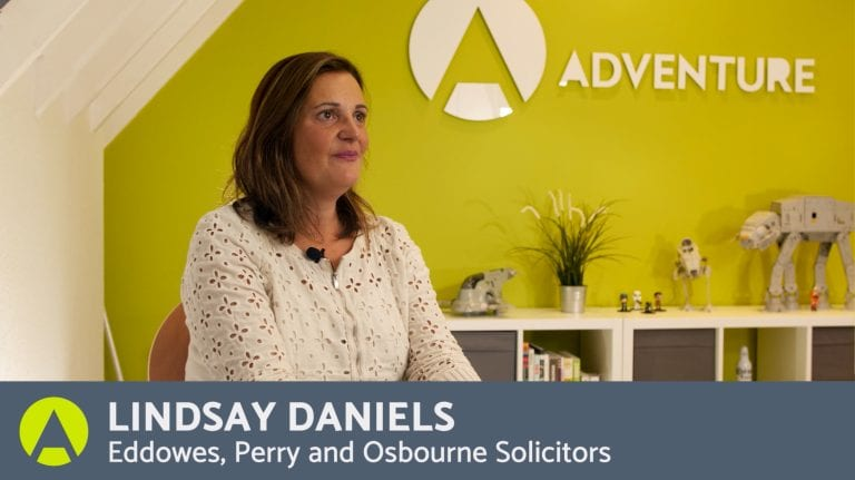 A Testimonial by Lindsay Daniels, Eddowes, Perry & Osbourne Solicitors
