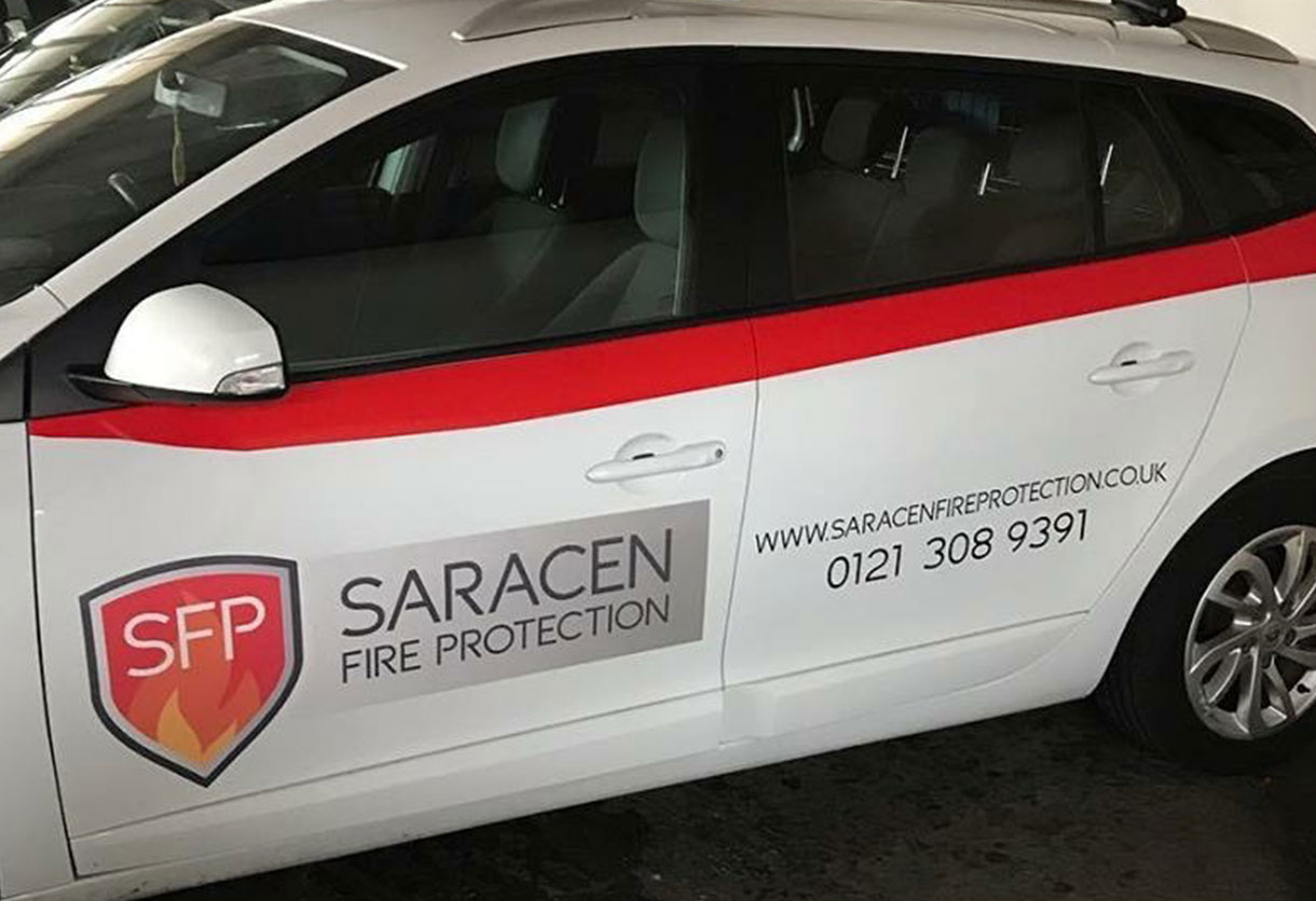 Saracen Fire Protection vehicle graphics