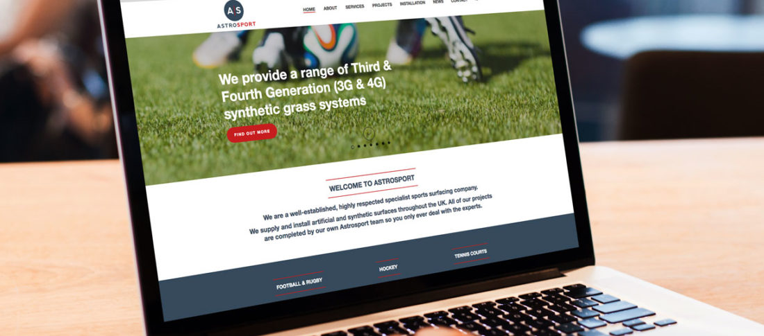 Astrosport website design